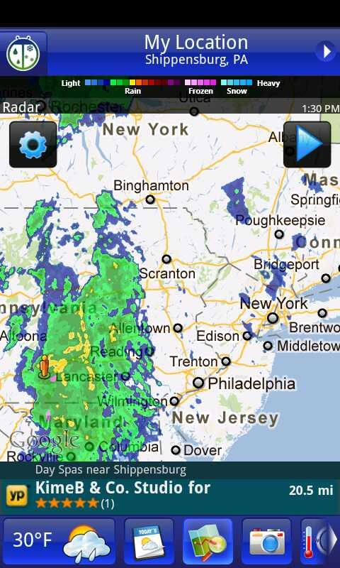 Current weather radar